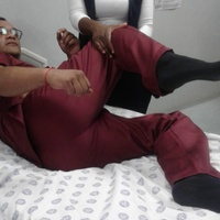 RMC SME demonstrating lateral birthing position